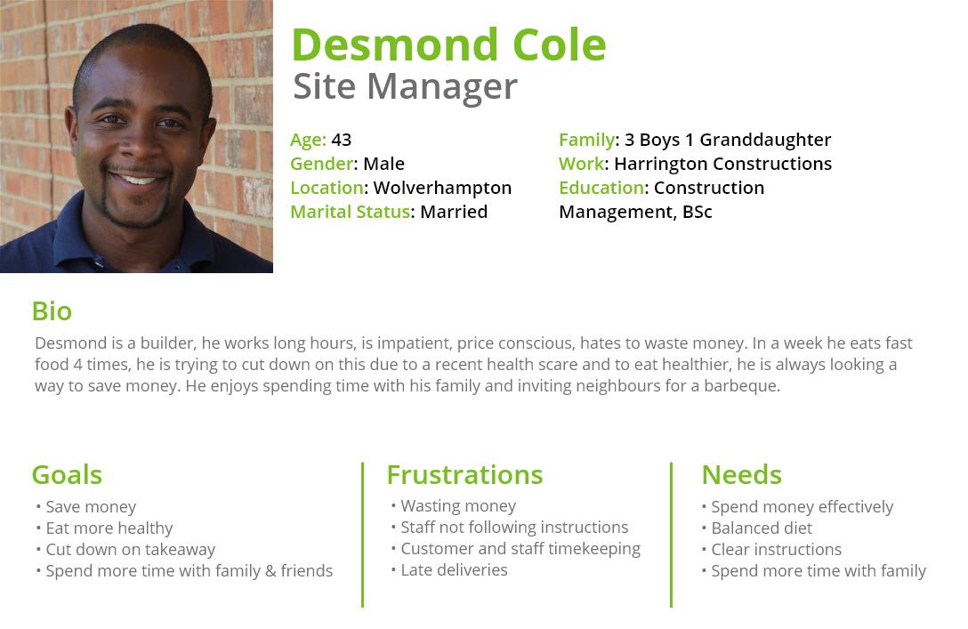 Desmond Cole Persona
